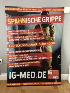 Plakat Spahnische Grippe A0