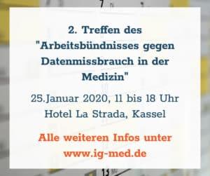 """2. Treffen Arbeitsbündnis gegen Datenmissbrauch in der Medizin"""""""