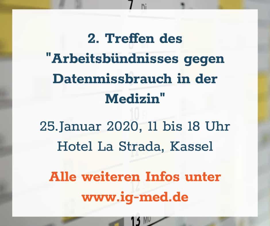 2. Treffen vom Arbeitsbündnis gegen Datenmissbrauch in der Medizin