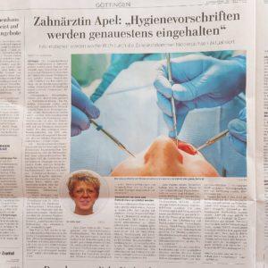 Zeitungsausschnitt Interview Anette Apel